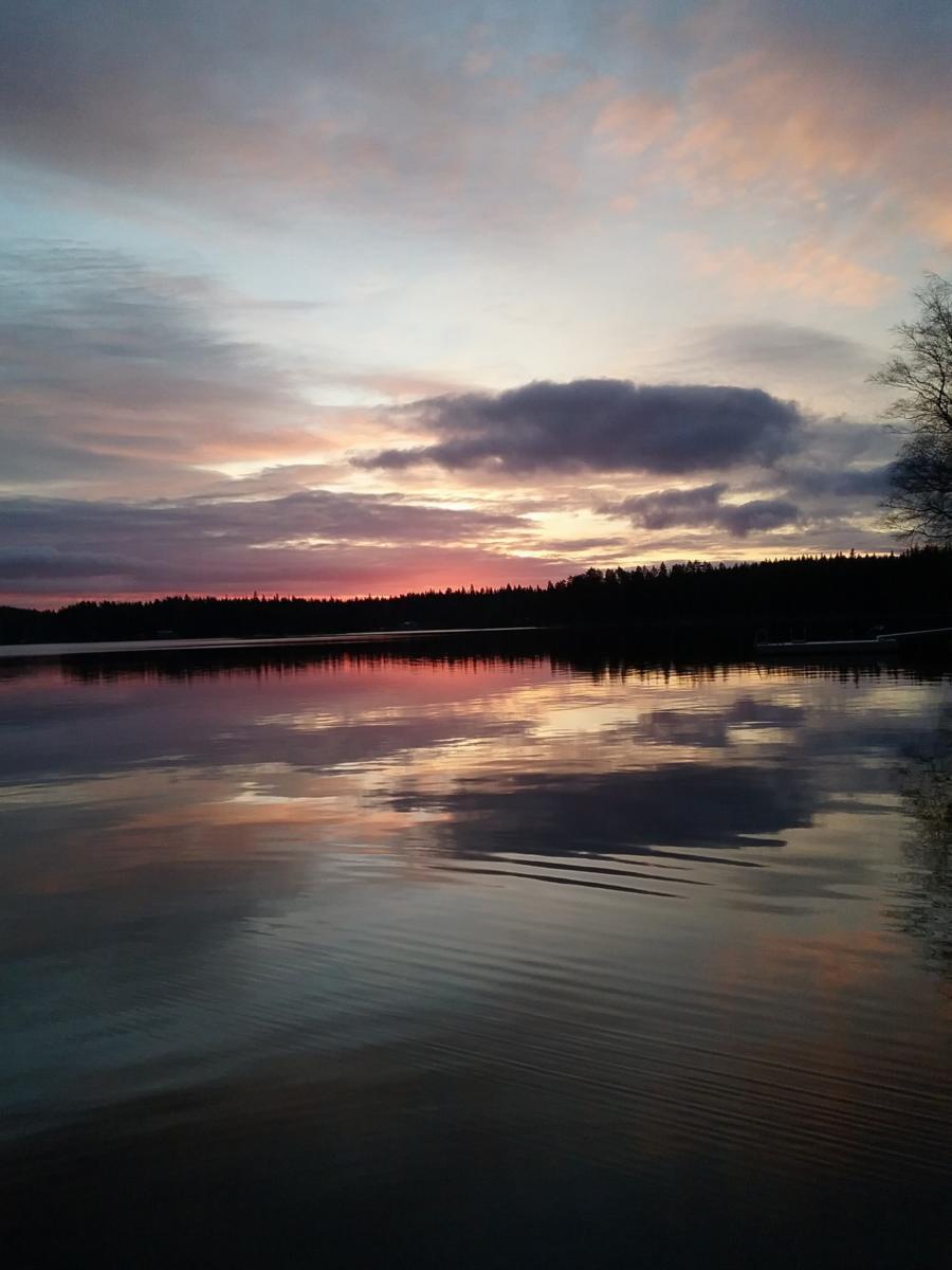 Auringonnousu Vesijaolla joulukuussa 2015