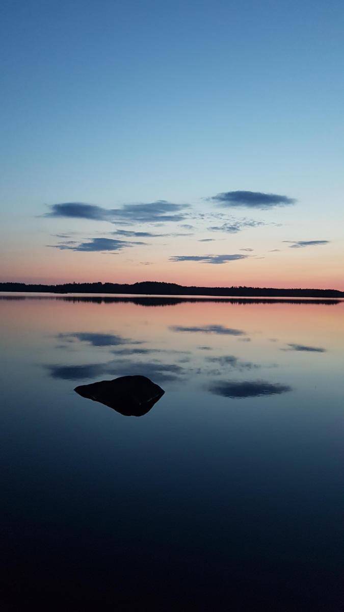 iltarusko 9.8.2019 - Käenniemen edusta